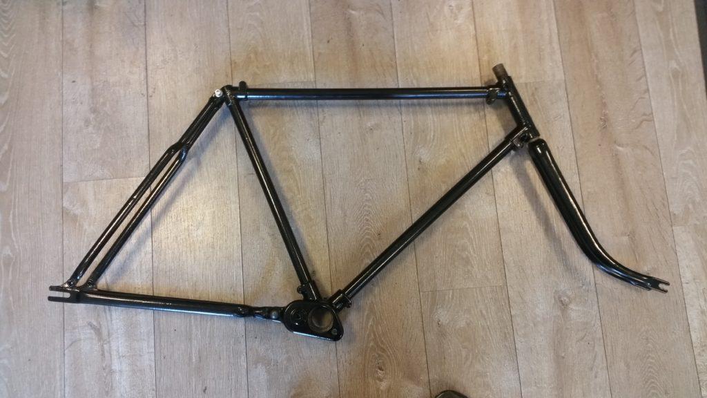 Wanderer 2 Gang Tretlager Getriebe Fahrrad 1936 Rahmen neu beschichtet